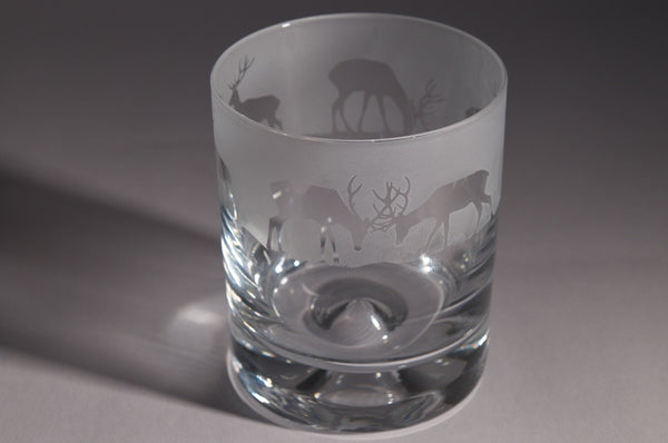 30cl Whiskey Tumbler Stag Design