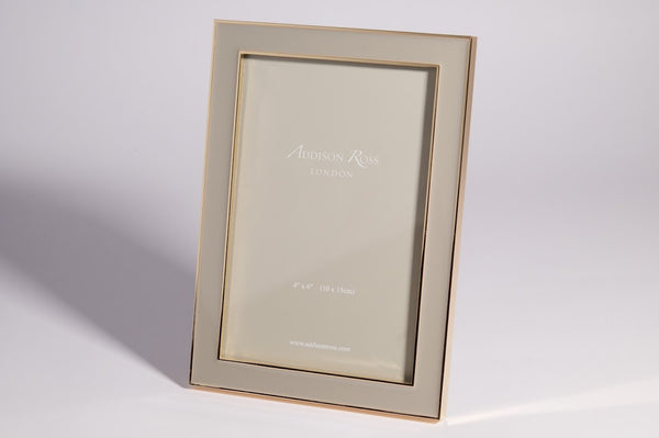 Photo Frame Gold Plate Taupe - Peter Hall & Son