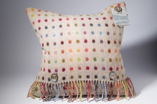 Multi Spot Cushion Beige - Peter Hall & Son