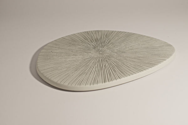 Grey Stripe Plate - Peter Hall & Son