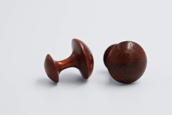Handturned Cufflinks, Plain - Peter Hall & Son