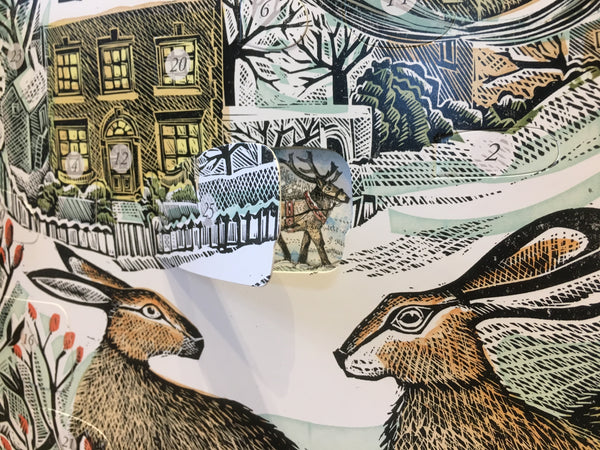 We Three Hares Freestanding advent calendar - Peter Hall & Son