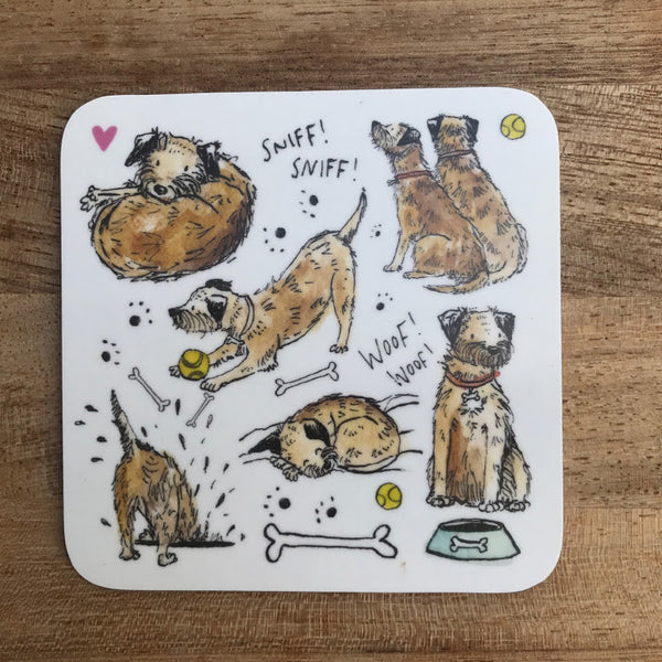 Border Terrier Coaster - Peter Hall & Son