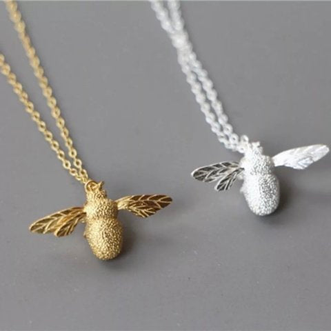 Baby Bee Gold Plated Necklace - Peter Hall & Son
