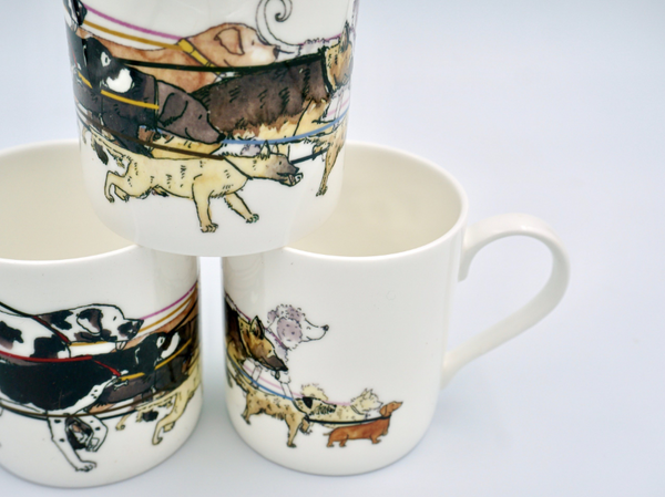 Dog Walking Mug - Peter Hall & Son