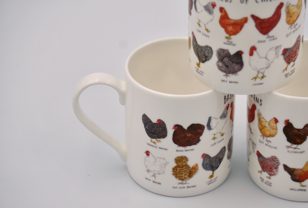 Types of Chickens Mug - Peter Hall & Son