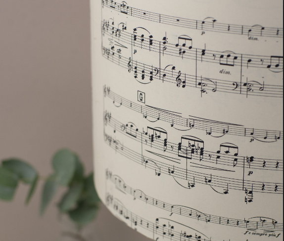 Vintage Music Lampshade - Peter Hall & Son