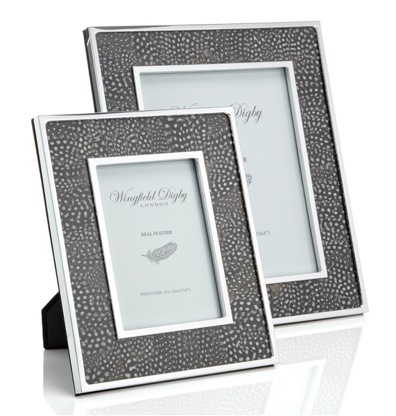 Guinea Fowl Feather Photo Frame - Peter Hall & Son