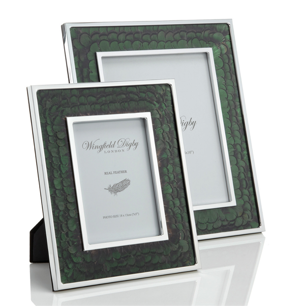 Green Pheasant Feather Photo Frame - Peter Hall & Son