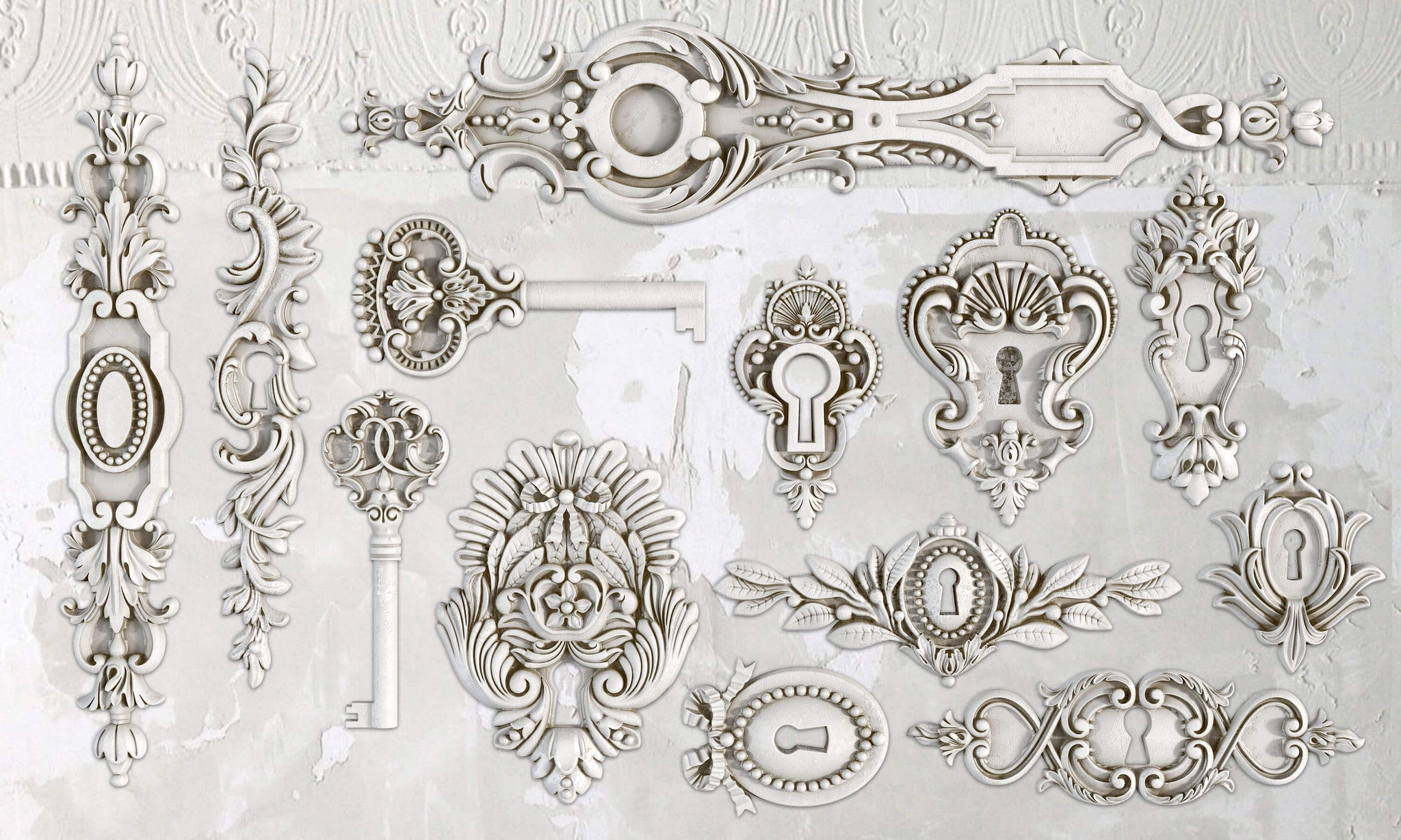LOCK & KEY DECOR MOULD
