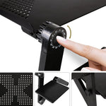 Portable Ergonomic Laptop Desk (Mouse Pad Included)