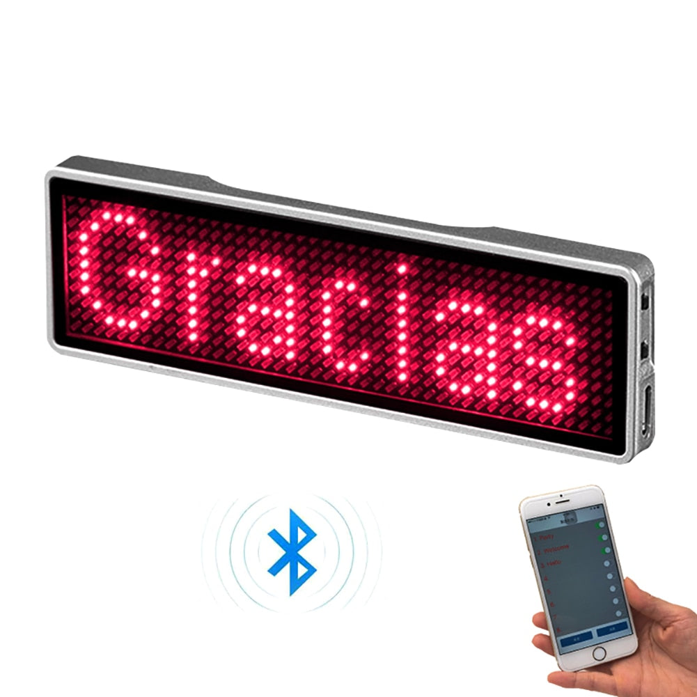 Digital Bluetooth LED Badge