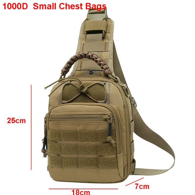 Laser Men Chest Bag Sling Hiking Backpack Military Tactical Army Shoulder Fishing Bags Travel Camping Molle Bag Hunting XA230A