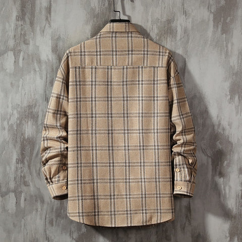 Oversized Men Flannel Shirt