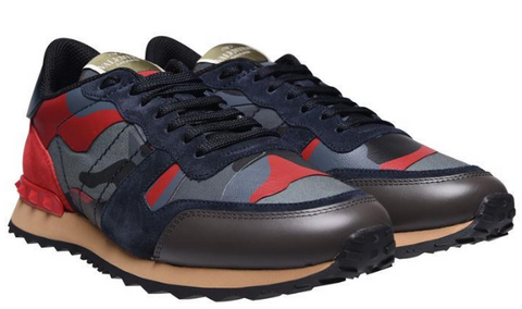 VALENTINO Rockstud Camouflage Trainers
