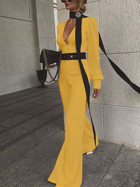 Fashion High Waist Temperament Jumpsuit