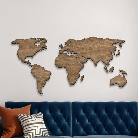 WOOD WORLDMAP - laserdesignstudio