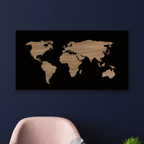 BLACK WORLDMAP - laserdesignstudio
