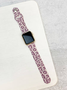 Lavender Leopard  Watch Band  $15.00