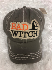 Distressed Halloween Baseball Hat