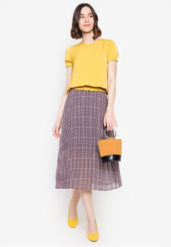 Kamiseta - AMARA Skirt (Gray/Pink)