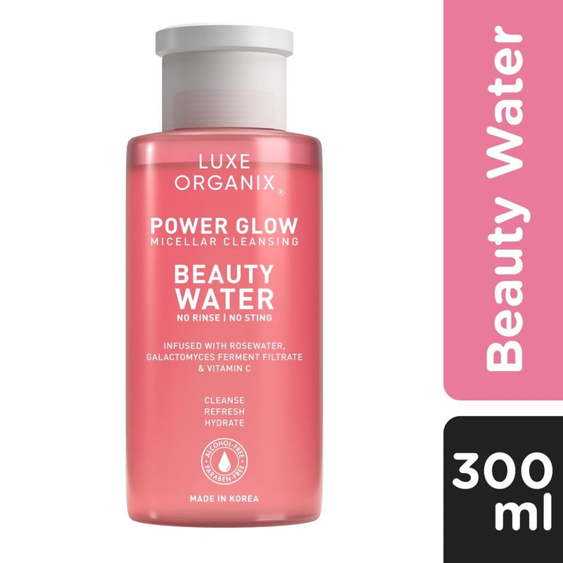 Luxe Organix Power Glow Micellar Cleansing Beauty Water 300ml