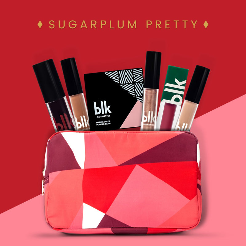 BLK Cosmetics Holiday Pouch Bundle Sugarplum Pretty