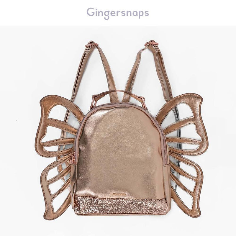 G KOKESHI GLAM - ROSE GOLD BUTTERFLY BACKPACK