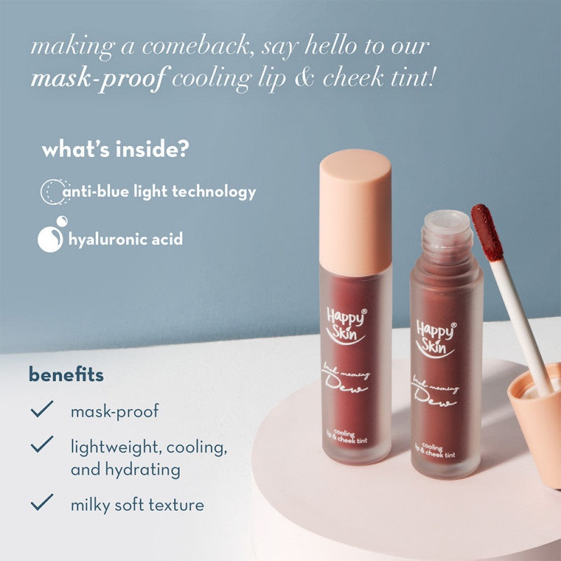 HAPPY SKIN DEW COOLING LIP & CHEEK TINT - UNDER THE SHEETS