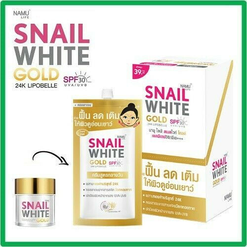NAMU Life - Snail White GOLD 24K Lipobelle SPF 30 (Box of 6)