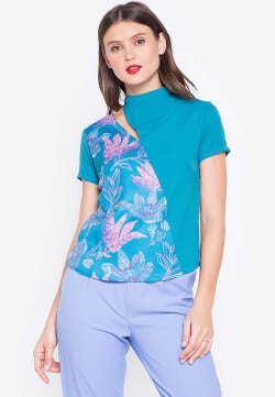 PLAINS & PRINTS PEMBROOKE TOP