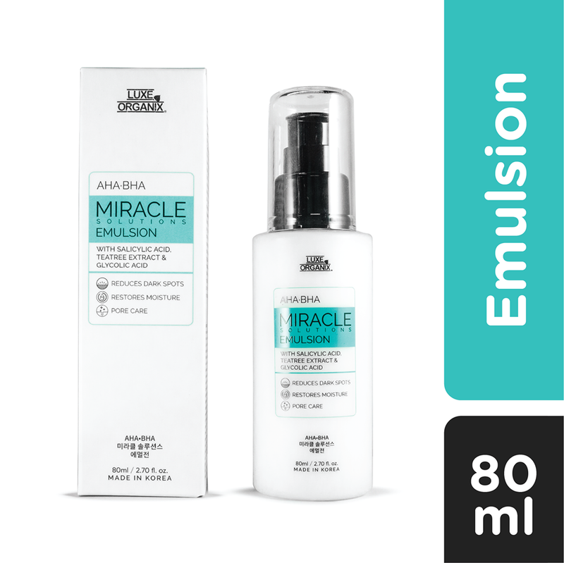 Luxe Organix Miracle Solutions AHA/BHA Emulsion 80ml