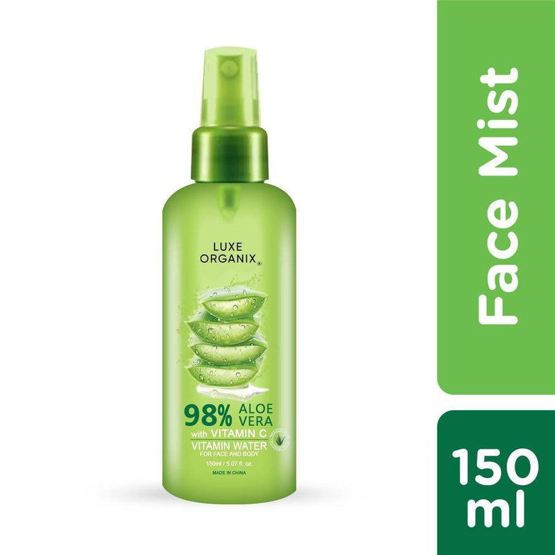 Luxe Organix Aloe Vera Vitamin Water for face & body 98% 150ml