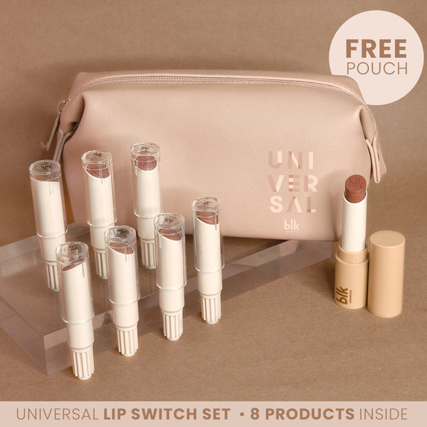 blk cosmetics Universal Lip Switch Refillable Full Set with Pouch