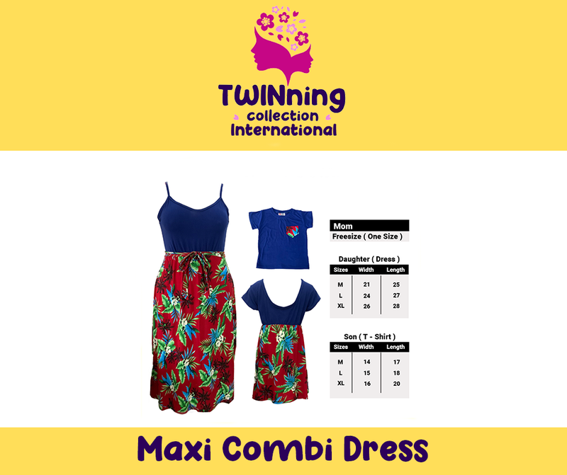 Twinning Collection Maxi Dress Combo - Floral Navy