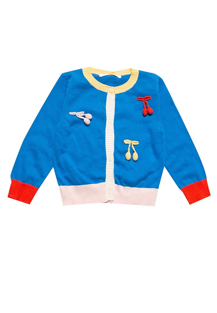 G JELLY BEAN PARTY CARDIGAN - BRILLIANT BLUE