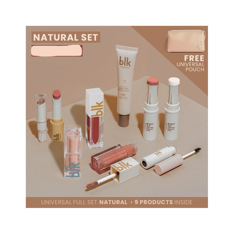 Blk Cosmetics Universal Full Set Natural With Pouch - Natural