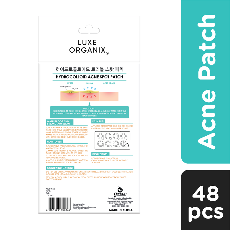 Luxe Organix Hydrocolloid Acne Spot Patch Night
