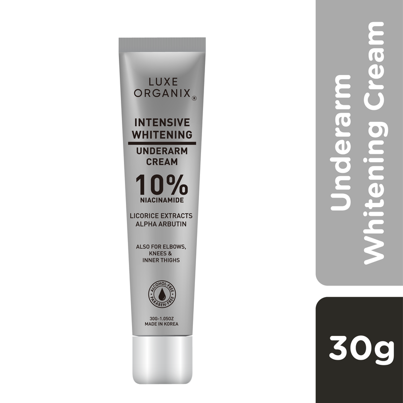 Luxe Organix Intensive Whitening Milk Cream for Underarms, Knees, Elbows & Inner Thighs 30g