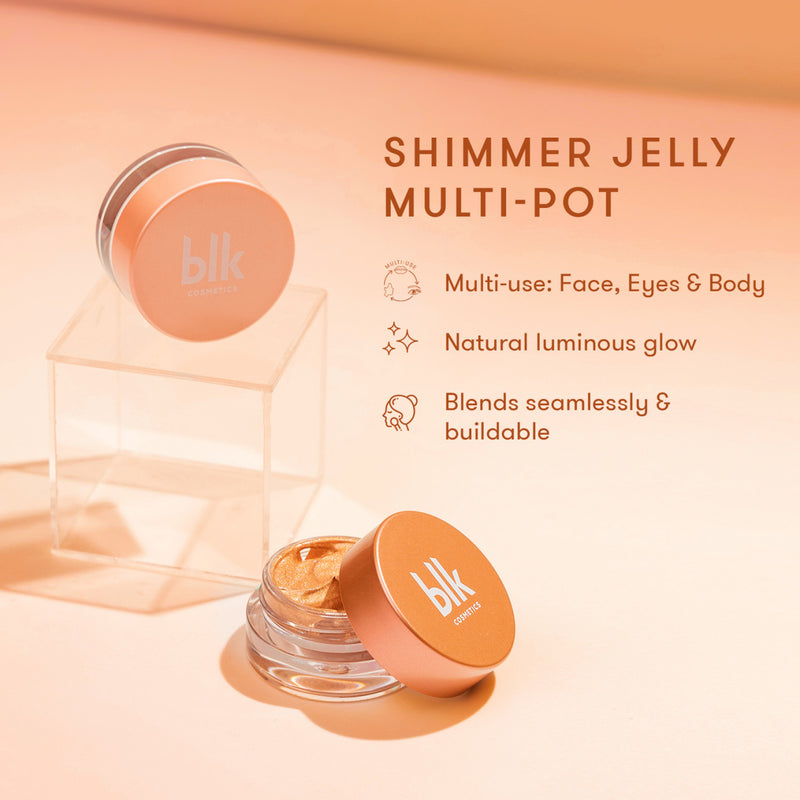 Blk Cosmetics Fresh Sunkissed Shimmer Jelly Multi-Pot Golden Hour Blush
