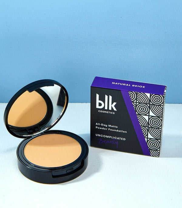 blk cosmetics All-Day Matte Powder Foundation (Natural Beige)