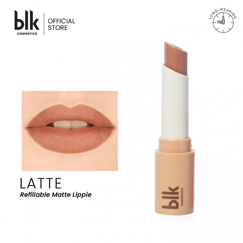 blk cosmetics Universal Refillable Matte Lippie -FULL SET (Latte)