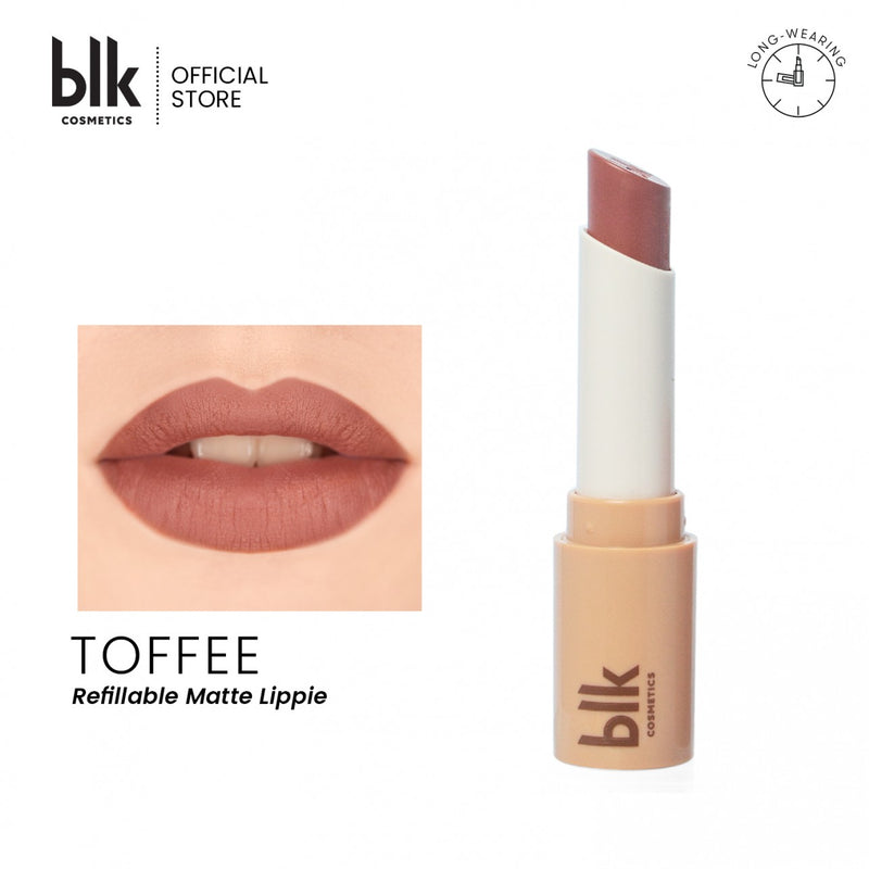 blk cosmetics Universal Refillable Matte Lippie -FULL SET (Toffee)