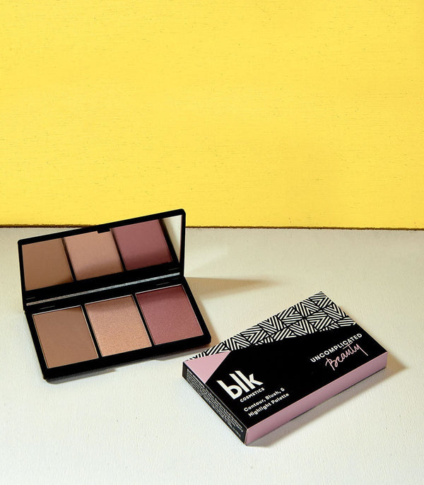 blk cosmetics Contour, Blush & Highlight Palette (Flushed)