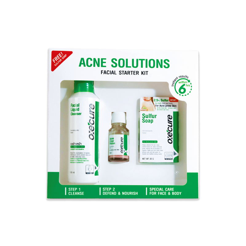 Oxecure - Acne Solutions Facial Starter Kit