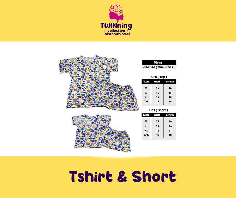 Twinning Collection Tshirt & Short - Fruity Purple