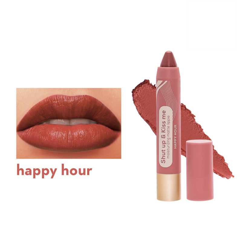 SHUT UP & KISS ME MOISTURIZING MATTE LIPPIE HAPPY HOUR
