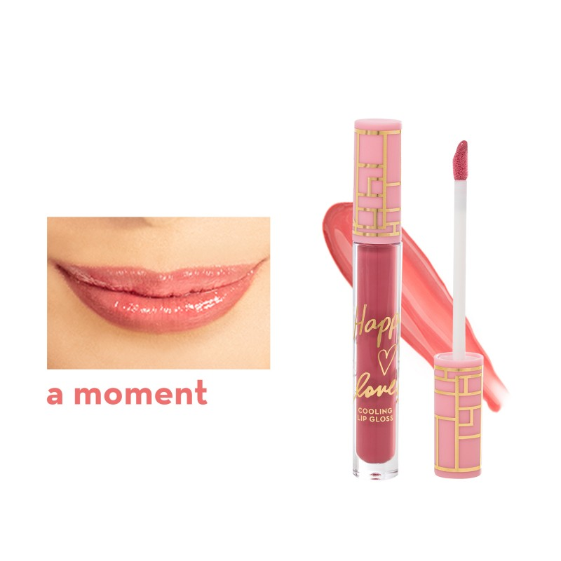 HAPPY SKIN X LOVEMARIE LIP GLOSS-A MOMENT