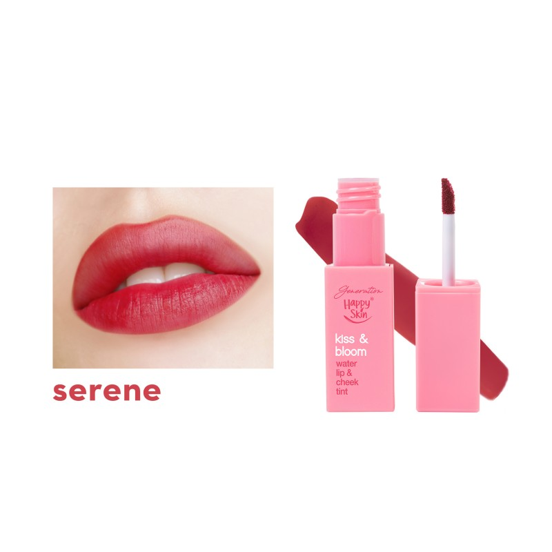 GENERATION HAPPY SKIN KISS & BLOOM WATER LIP & CHEEK TINT SERENE