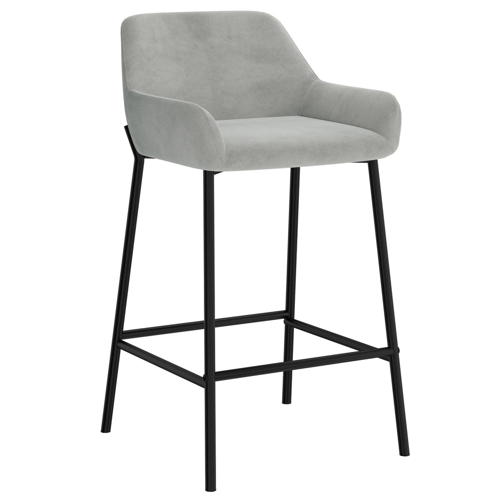 "Barclay 26"" Counter Stool, Set of 2 - Grey"